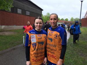 Lif Lindesbergs lagkapten Louise Fahlén och Joline Jakobsson gladdes över starten på Järnvägen cup.