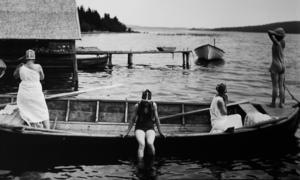 Ett dopp på Hemsön under 1900-talets första hälft.