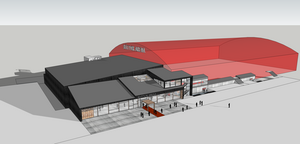 Så kan arenan komma att se ut. BIld: Scheiwiller Svensson Arkitektkontor.
