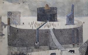 Lars Aggers konstverk, ett av de som tagits ut till vårutställningen i Köpenhamn.