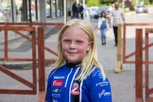 Signe Winquist, 10 år, medlem i Norbergs orienteringsklubb.
