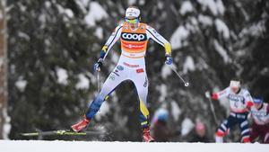 Stina Nilsson kom in på en sjundeplats i dagens jaktstart. Bild: Anders Wiklund.