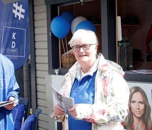 Elisabeth Wäneskog (KD) var inte nådig i sin kritik mot sverigedemokraten Patric Sjölund under torsdagens kommunfullmäktige. Foto: Britt-Louise Bergström
