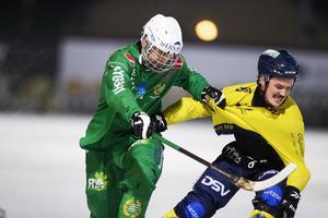 Hampus Krantz i fjolårets Stockholmsderby mot Hammarby, den klubb han sen valde att nobba. Bild: Nils Petter Nilsson/TT