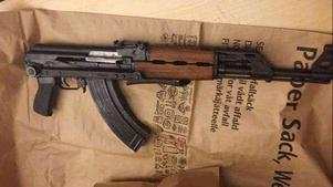 Så här ser det beslagtagna skjutvapnet ut.Bild från polisens förundersökningen.
