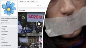 Signaturen Värna demokratin! vittnar om att SD censurerar frågor om deras politik på Facebook.