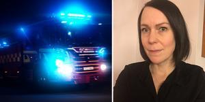 Norbergaren Maja Rundström upptäckte en brand som startat på en balkong i ett flerfamiljshus. Tack vare henne kunde man släcka branden snabbt.