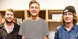Fotograf Martin Bohm, nöjesredaktör William Holm och vikarierande nöjesredaktör Carl Edholm bevakar årets upplaga av Cityfestivalen.