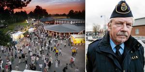 Polisens Stefan Dangardt sammanfattar Dansbandsveckans torsdagsnatt. Foto: Janåke Isaksson, Christian Larsen