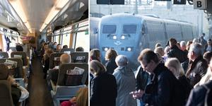 I genomsnitt var tågen i länet 24 minuter sena till slutstationen förra året. Foto: Fredrik Sandberg/TT, Johan Nilsson/TT