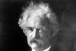 Mark Twain (pseudonym för Samuel Langhorne Clemens), (1835–1910), författare, USA:
