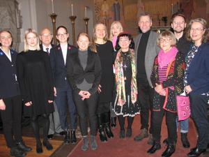 Här är de medverkande vid firandet av Förintelsens minnesdag i Ö-viks kyrka. Utom bild Stefan Nordström.
