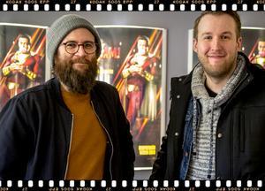 Jerker Osatie, ljuddesigner, Sundsvall och Stefan Nordlander, heltidsmusiker, ljudtekniker under seminariet på filmfestivalen, Sundsvall.