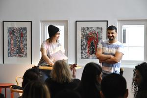 Alice Perlerot och Fahrad Khan hjälptes åt att framföra poesi.