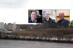 Lennart Westman, Lars Burefjord och Claes Svensk vill bygga tillfälliga boenden på Tallvägen.
