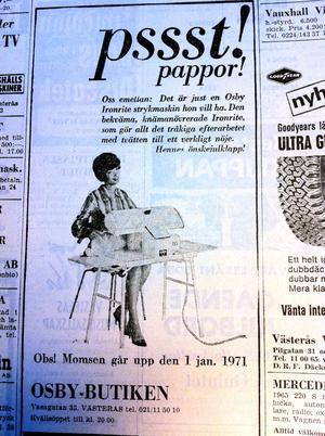 Annons ur VLT 1971.