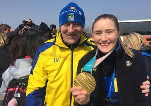 Stuart och Sara McManus efter OS-guldet.