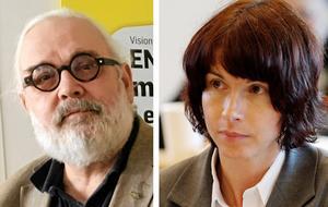 Sverigedemokraternas Tommy Hansson och Beata Milewczyk.