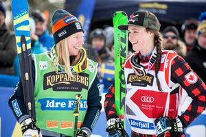 Foto: Christine Olsson / TT.Kommer vi att se Sandra Näslund och Marielle Thompson återförenas under OS? Det kommer de, i alla fall om man ska tro Kanadas OS-trupp.