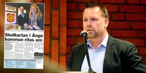 Ånge kommuns skolchef Kent Ylvesson förklarar vad det är som gör att ännu en skolutredning kommer fram där skolkartan i den östra delen pekas ut som föremål för kraftiga förändringar.