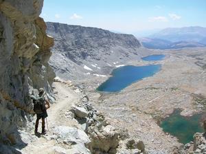 Bild från Forester Pass i Sierra Nevada som med sina 4 000 meter är den högsta punkten längs Pacific Crest Trail. Foto: John Landis