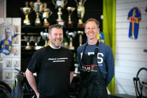 Mika Snell har sen tidigare bra kontakter med näringslivet och Marcus Ljungqvist står för cykelkunnandet.