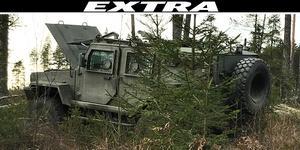 """Den stulna """"Galten"""" hittades efter en väg i ett skogsparti strax norr om Möklinta. Foto: Polisen"""