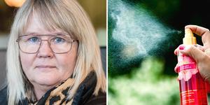 Anna-Carin Carlsson Stjärnlöf blev doftöverkänslig efter 25 år bland parfymer på jobbet. Bilden är ett montage.