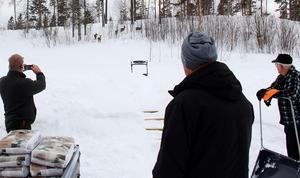 När Per-Arne Olsson levererade maten tog det inte lång stund förrän rådjuren dök upp på rad i skogsbrynet.