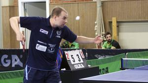 Axel Abrahamsson vann alla sina fyra singelmatcher för Norberg i helgen.