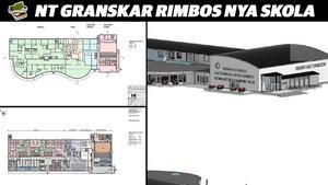 Olika ritningar över Rimbo nya skola och Kulturscenen har cirkulerat under åren.