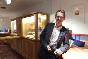 Johan Hansson är VD för Pressmaster i Älvdalen, ett företag som växer med världen som marknad.