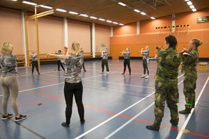 Majoriteten av deltagarna på Military weekend i Söderhanmn var tjejer.