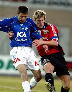 Kalle Ståhl till höger då det begav sig i GIF-tröjan.