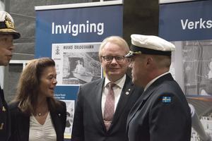 Försvarsminister Peter Hultqvist deltog i invigningen av marinstaben på Musköbasen.