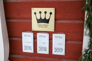 Tällbergsgården har stort fokus på hög matkvalitet och  har blivit rekommenderade i White guide under flera år.