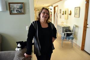 Carin Rydin, enhetschef, är stolt över verksamheten som tar hand om de äldre.