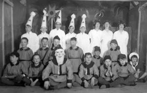 Luciafirande på Bodaborg. Bild: Ur ett album som förvaras på regionarkivet i Härnösand