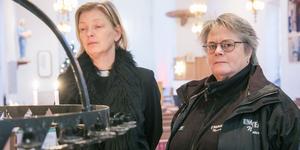 Veronica Lindgren, präst i Nynäshamns församling, och Lena Rydås, ungdomspedagog, Nynäshamns kommun.
