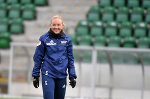 Wilma Wärulf var lagkapten för SDFF den gångna säsongen.