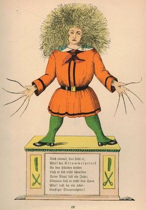 Illustration ur  Heinrich Hoffmanns klassiker
