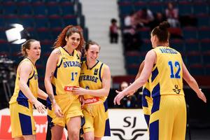 Svenska damlandslaget i basket ska förbereda sig för viktigt kval i Ockelbo.FOTO: TT