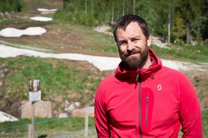 Fredrik Jelk, klubbordförande i Bergscykelklubben, vill attrahera fler medlemmar till klubben med den öppna arenan.