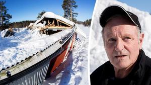 Tore Granbom, före detta ordförande i Gussjö IF, hoppas nu på hjälp för att rädda dansbanan.
