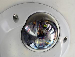 Övervakningskamera i busskupé. /Arkivfoto TT
