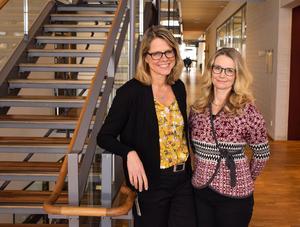 Kajsa Lidström Holmqvist och Marie Matérne på Region Örebro län är två av forskarna som får dela på miljonerna. Foto: Elin Abelson