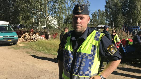Polisens insatsledare Hans Ängquist.
