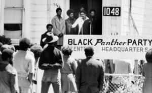 Svarta pantrarna håller möte 1971. Foto: AP