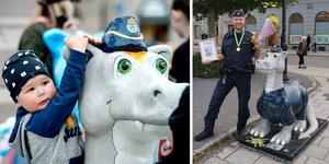 Polisen drake var populär i år – något som glädjer Josef Wiklund, lokalpolisområdeschef i Medelpad. Bilder: Polisen, Mårten Englin