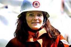 Foto: NICK BLACKMON Praktikant. Ulrika Leijon har fått praktisera som brandman. Det har varit hennes drömyrke sedan hon var liten.